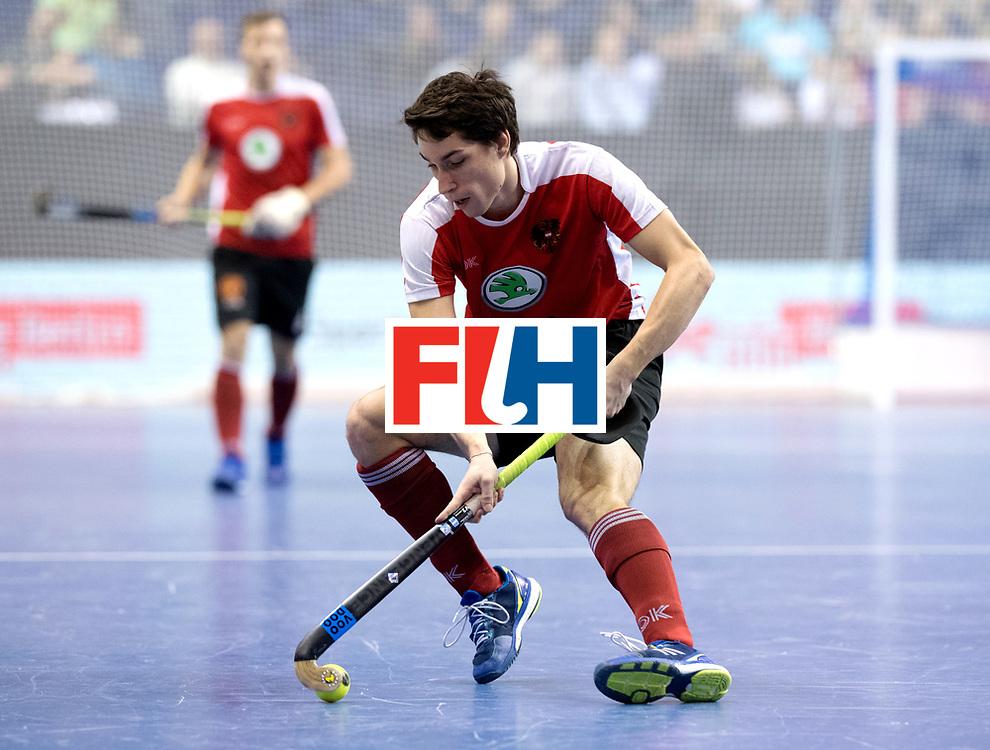 BERLIN - Indoor Hockey World Cup<br /> Semi-final 2: Australia - Austria<br /> foto: EITENBERGER Sebastian.<br /> WORLDSPORTPICS COPYRIGHT FRANK UIJLENBROEK