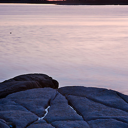 Dawn on the coast of Maine's Great Wass Island near Jonesport. Nature Conservancy preserve.