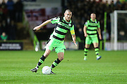 Forest Green Rovers Liam Noble(15) on the ball during the Vanarama National League match between Forest Green Rovers and Tranmere Rovers at the New Lawn, Forest Green, United Kingdom on 22 November 2016. Photo by Shane Healey.