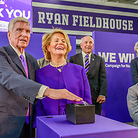 Pat and Shirley Ryan dedicate the Ryan Fieldhouse at Northwestern University in Evanston