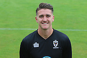 AFC Wimbledon goalkeeper Joe McDonnell at AFC Wimbledon Team Photo 02AUG16 at the Cherry Red Records Stadium, Kingston, England on 2 August 2016. Photo by Stuart Butcher.