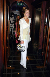 LADY ELOISE ANSON at a party to celebrate a new collection of sexy underware by Janet Reger called 'Naughty Janet' held at 5 Cavendish Square, London on 19th October 2004.<br />