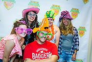 Students pose for a silly photo at Sunburst Festival at Memorial Union in 2014.