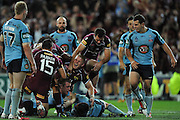 July 6th 2011: Ben Hannant of the Maroons during game 3 of the 2011 State of Origin series at Suncorp Stadium in Brisbane, QLD, Australia on July 6, 2011. Photo by Matt Roberts / mattrimages.com.au / QRL