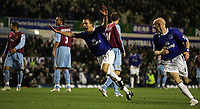 Photo: Paul Thomas.<br /> Everton v West Ham United. The Barclays Premiership. 03/12/2006.<br /> <br /> Leon Osman of Everton celebrates his goal.