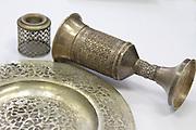 An antique silver judaica Kiddush Cup from Tripoli, Libya.