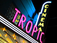 "Neon sign at the Tropic Cinema, Key West Florida, rated ""Best cinema in Florida"""