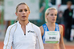 Snezana Rodic of Slovenia and Maja Bratkic of Slovenia in background during the women's triple jump at athletics meeting Ljubljana Grand Prix 2010 for 5th Memorial Matic Sustersic and Patrik Cvetan on August 29, 2010, in Ljubljana, Slovenia. (Photo by Matic Klansek Velej / Sportida)