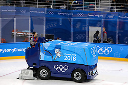 GANGNEUNG, SOUTH KOREA - FEBRUARY 17: Ice machine during the ice hockey match between Slovenia and Slovakia in  the Preliminary Round on day eight of the PyeongChang 2018 Winter Olympic Games at Kwangdong Hockey Centre on February 17, 2018 in Gangneung, South Korea. Photo by Kim Jong-man / Sportida