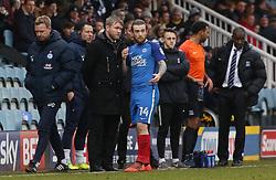 Peterborough United Manager Grant McCann discusses tactics with Jack Marriott - Mandatory by-line: Joe Dent/JMP - 03/02/2018 - FOOTBALL - ABAX Stadium - Peterborough, England - Peterborough United v Southend United - Sky Bet League One
