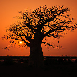 Pôr do sol em Angola