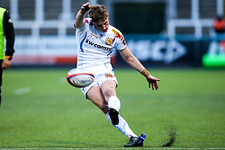 Harvey Skinner of Exeter Braves kicks a conversion - Mandatory by-line: Robbie Stephenson/JMP - 06/05/2019 - RUGBY - Kingston Park Stadium - Newcastle upon Tyne, England - Newcastle Falcons 'A' v Exeter Braves - Premiership Rugby Shield Semi-Final