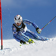 Ryunosuke Ohkoshi, Japan, in action during the Men's Giant Slalom competition at Coronet Peak, New Zealand during the Winter Games. Queenstown, New Zealand, 22nd August 2011. Photo Tim Clayton