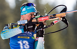 Simon Desthieux (FRA) in action during the Men 10km Sprint at day 6 of IBU Biathlon World Cup 2018/19 Pokljuka, on December 7, 2018 in Rudno polje, Pokljuka, Pokljuka, Slovenia. Photo by Vid Ponikvar / Sportida