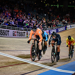 HANSEN Natasha ( NZL ) - New Zealand - BRASPENNINCX Shanne ( NED ) - Netherlands - CASAS ROIGE Helena ( ESP ) - Spain - BAYONA PINEDA Martha ( COL ) - Columbia - MORTON Stephanie ( AUS ) – Australia – Querformat - quer - horizontal - Landscape - Event/Veranstaltung: UCI Track Cycling World Championships 2020 – Track Cycling - World Championships - Berlin - Category/Kategorie: Cycling - Track Cycling – World Championships - Elite Women - Location/Ort: Europe – Germany - Berlin - Velodrom Berlin - Discipline: Keirin - Distance: ... m - Date/Datum: 01.03.2020 – Sunday – Day 5 - Photographer: © Arne Mill - frontalvision.com