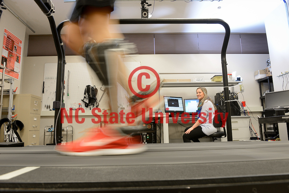 Students work in the Power (GAIT) Lab in EBIII. Photo by Marc Hall