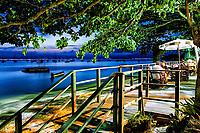 Restaurante à beira da praia em Santo Antonio de Lisboa. Florianópolis, Santa Catarina, Brasil. / <br /> Restaurant by the beach in Santo Antonio de Lisboa neighborhood. Florianopolis, Santa Catarina, Brazil.