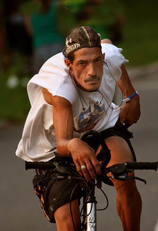 Biker at sundown.
