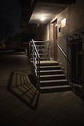 Steps at Communist-era apartment block, Warsaw
