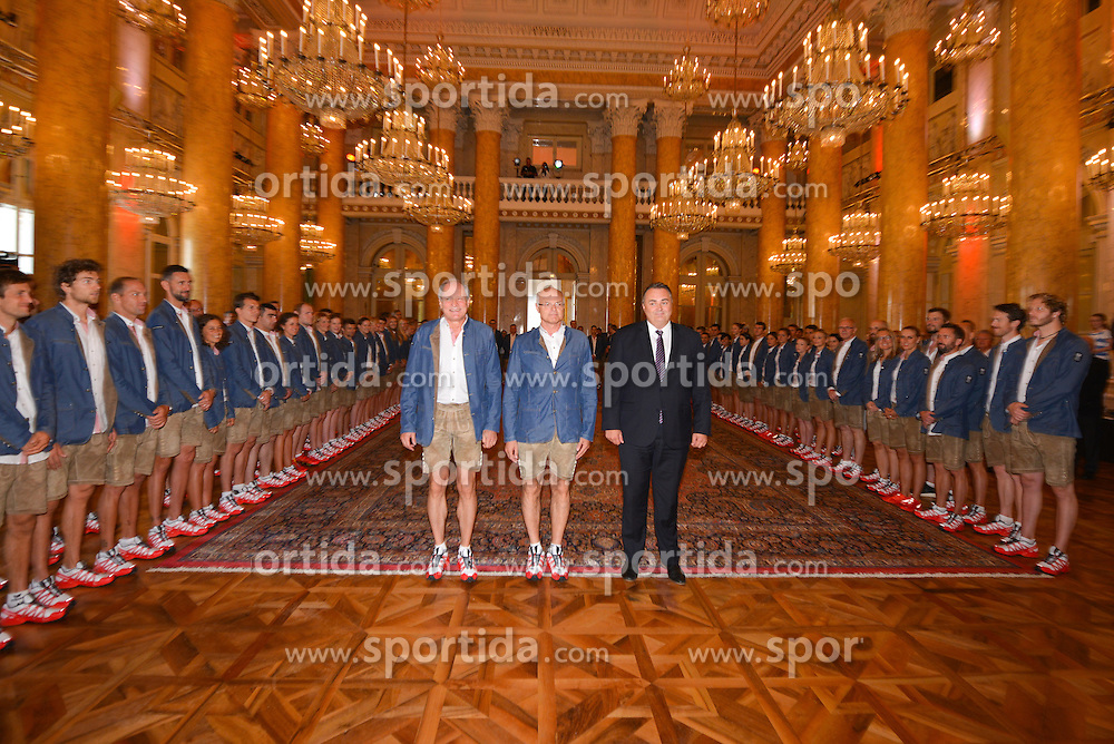 18.07.2016, Hofburg, Wien, AUT, Olympia, Rio 2016, Verabschiedung OeOC, im Bild Mennel Stoss Doskozil // during the farewell of the Austrian National Olympic Committee for Rio 2016 at the Hofburg in Wien, Austria on 2016/07/18. EXPA Pictures © 2016, PhotoCredit: EXPA/ Erich Spiess