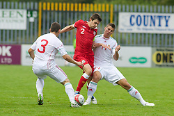 HAVERFORDWEST, WALES - Wednesday, August 10, 2011: Wales' Daniel Alfei in action against Hungary during an Under-21 International Friendly at the Conygar Bridge Meadow Stadium. (Photo by Gareth Davies/Propaganda)
