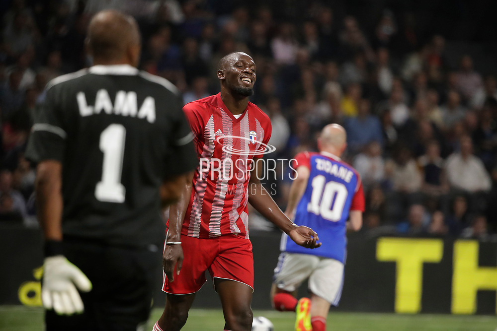 Usain Bolt (FIFA 98), Bernard Lama (France 98), Zinedine Zidane (France 98) during the 2018 Friendly Game football match between France 98 and FIFA 98 on June 12, 2018 at U Arena in Nanterre near Paris, France - Photo Stephane Allaman / ProSportsImages / DPPI