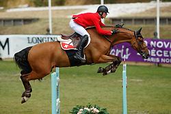Schmitz Edouard, SUI, Cortino<br /> European Championship Children, Juniors, Young Riders - Fontainebleau 1028<br /> © Hippo Foto - Monique de Smit<br /> Schmitz Edouard, SUI, Cortino