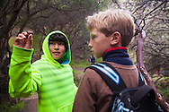 Melrose Leadership Academy fourth grade students from Oakland visited the East Bay Park District's Black Diamond Mines Regional Preserve on February 19, 2019 in Antioch, California.
