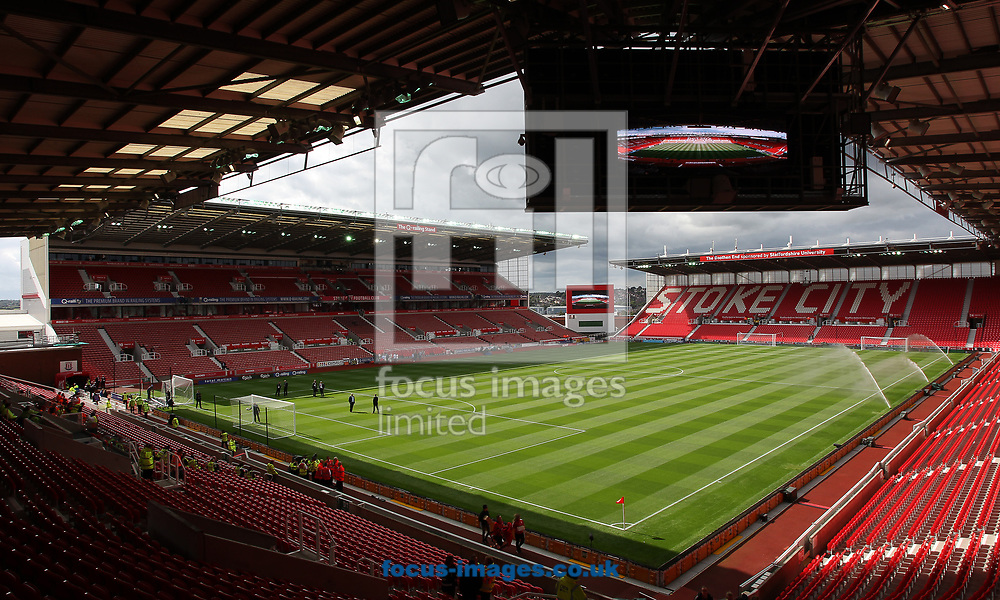 General view of the bet365 Stadium, prior to the Premier League match between Stoke City and Arsenal, Stoke-on-Trent.<br /> Picture by Michael Sedgwick/Focus Images Ltd +44 7900 363072<br /> 19/08/2017