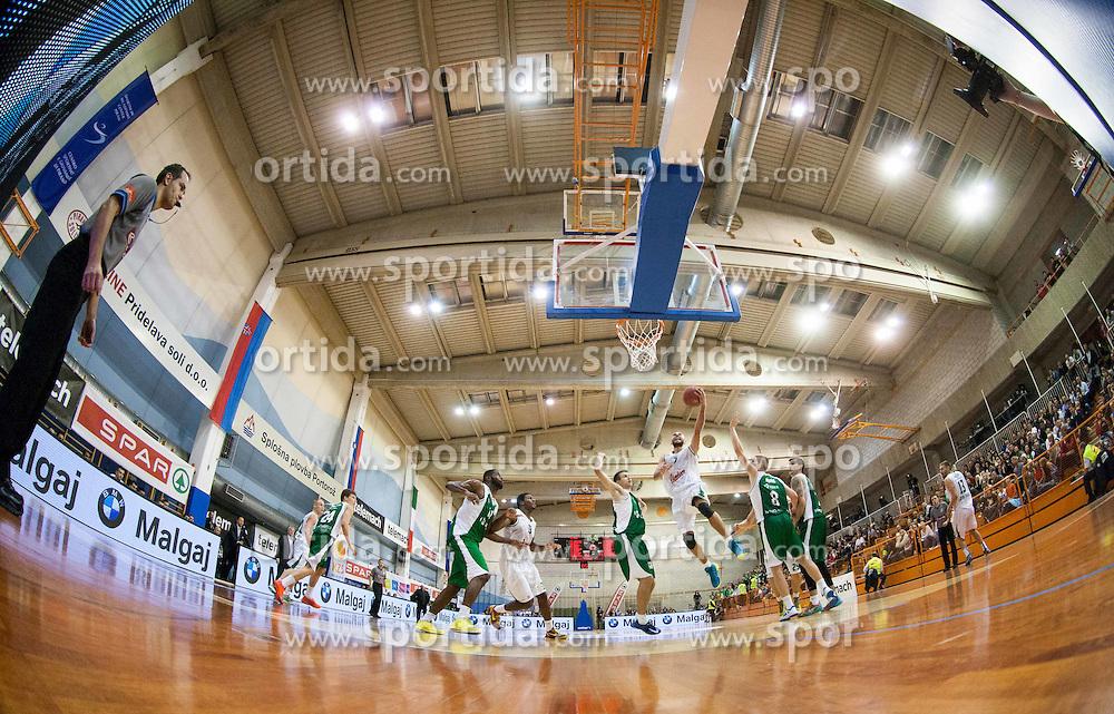 Nebojsa Joksimovic of Union Olimpija during Super Cup 2013 basketball match between KK Krka and KK Union Olimpija before new season 2013/14 on October 2, 2013 in Sports hall Lucija, Portoroz, Slovenia. (Photo by Vid Ponikvar / Sportida.com)