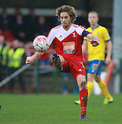 Whitehawk midfielder Sergio Torres during the The FA Cup match between Whitehawk FC and Lincoln City at the Enclosed Ground, Whitehawk, United Kingdom on 8 November 2015. Photo by Bennett Dean.