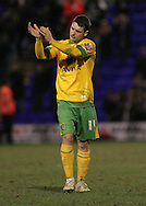 Tranmere - Friday, April 2nd, 2010: Wesley Hoolahan of Norwich City applauds the fans after the match against Tranmere Rovers during the Coca Cola League One match at Prenton Park, Tranmere. (Pic by Michael Sedgwick/Focus Images)