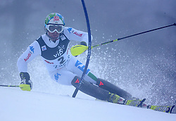 06.01.2013, Crveni Spust, Zagreb, CRO, FIS Ski Alpin Weltcup, Slalom, Herren, 1. Lauf, im Bild Stefano Gross (ITA) // Stefano Gross of Italy in action during 1st Run of the mens Slalom of the FIS ski alpine world cup at Crveni Spust course in Zagreb, Croatia on 2013/01/06. EXPA Pictures © 2013, PhotoCredit: EXPA/ Pixsell/ Ibrahim Kralj..***** ATTENTION - for AUT, SLO, SUI, ITA, FRA only *****