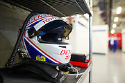 29th October - 1st November 2015. World Endurance Championship. 6 Hours of Shanghai.  Shanghai International Circuit, China. Anthony Davidson's helmet