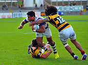 Malakai Fekitoa in action during the Taranaki vs Auckland ITM cup match played at Yarrow Stadium New Plymouth New Zealand. Saturday the 7th of September 2013. <br /> Photo John Velvin/Photosport