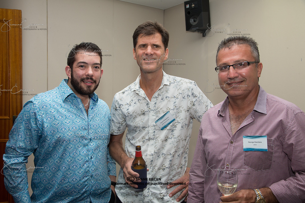 Jeorge Kamitsis, Bede Rodeghiero & George Kamitsis. RLB 40th Birthday, Hilton. Photo Shane Eecen Creative Light Studios