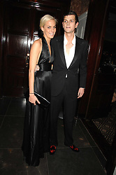 LADY LOUISA COMPTON and the HON.ALEXANDER SPENCER-CHURCHILL at a party to celebrate the launch of the Astley Clarke Fine Jewellery Collection held at The Connaught hotel, London W1 on 28th February 2008.<br />