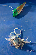 fishing lure and flies aboard Reel Addiction, Vava'u, Kingdom of Tonga, South Pacific