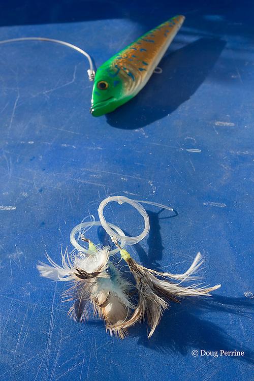 fishing lure and flies aboard Reel Addiction, Vava'u, Kingdom of Tonga, South Pacific