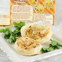 Mark Laubenthal's bacon, onion, garlic puff pastry pinwheels with a sprinkle of parsley.