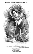 "Punch's Fancy Portraits. No.37. ""O.W."" ""O, I feel just as happy as a bright Sunflower!"" Lays of Christy Minstrelsy. Aesthete of Aesthetes! What's in a name? The poet is Wilde, But his poetry's tame."