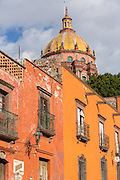 The dome of the Convent of the Immaculate Conception known as the Nuns in the historic center of San Miguel de Allende, Mexico.
