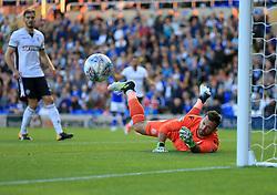 Mark Howard of Bolton Wanderers saves a Clayton Donaldson of Birmingham City shot on target - Mandatory by-line: Paul Roberts/JMP - 15/08/2017 - FOOTBALL - St Andrew's Stadium - Birmingham, England - Birmingham City v Bolton Wanderers - Sky Bet Championship