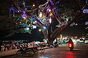 Night market along the Mekong River, Vientienne, Laos