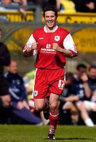 Photo: Alan Crowhurst.<br />Wycombe Wanderers v Darlington. Coca Cola League 2. 29/04/2006. Darlington's David Duke celebrates his goal.