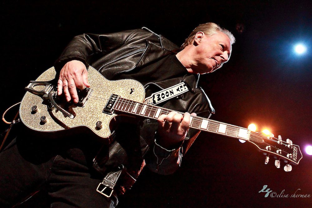 Billy Zoom of X performs on December 31, 2010  at the Moore Theatre in Seattle, WA