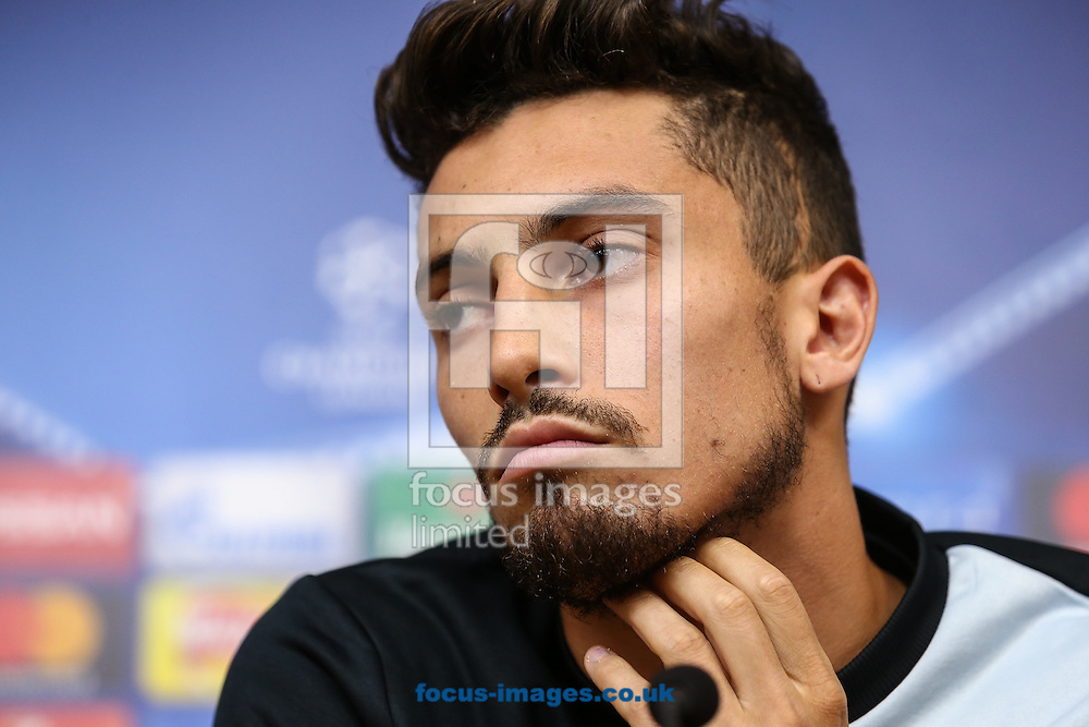 Alex Telles of FC Porto during the FC Porto press conference at the King Power Stadium, Leicester<br /> Picture by Andy Kearns/Focus Images Ltd 0781 864 4264<br /> 26/09/2016