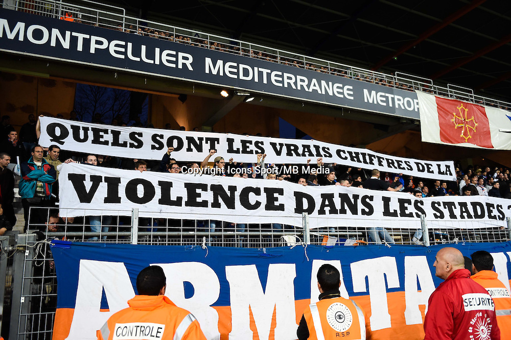 Supporters Montpellier - 04.04.2015 - Montpellier / Bastia - 31eme journee de Ligue 1<br />