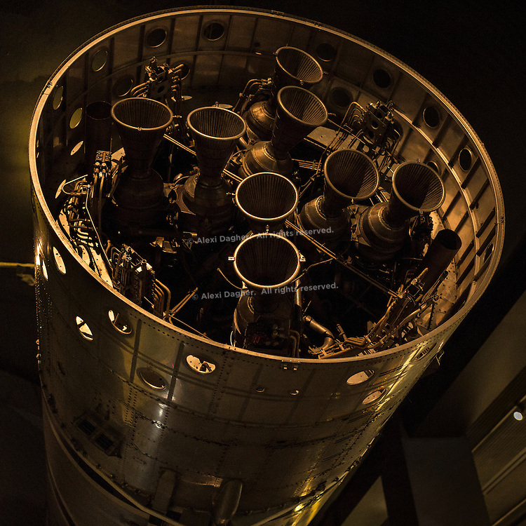 Gamma 8 Rocket Engine On The 1st Stage Of The Black Arrow, Satellite  Launch Vehicle, At The Space Gallery Of The Science Museum - London, England, 2016