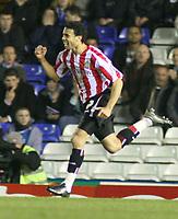 Photo: Mark Stephenson.<br />Birmingham City v Sunderland. Coca Cola Championship. 20/02/2007.Sunderland's Carlos Edwards celabrates his goal